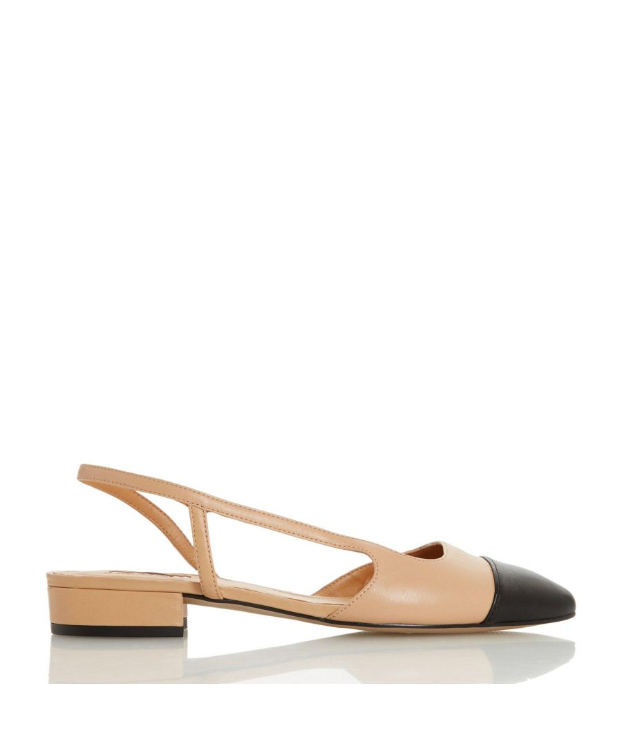 Image for Dune Ladies CORALINA Pointed Block Heel Slingback Shoes
