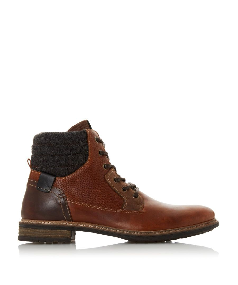 Image for Dune Mens COWLEY Lace Up Panel Boots