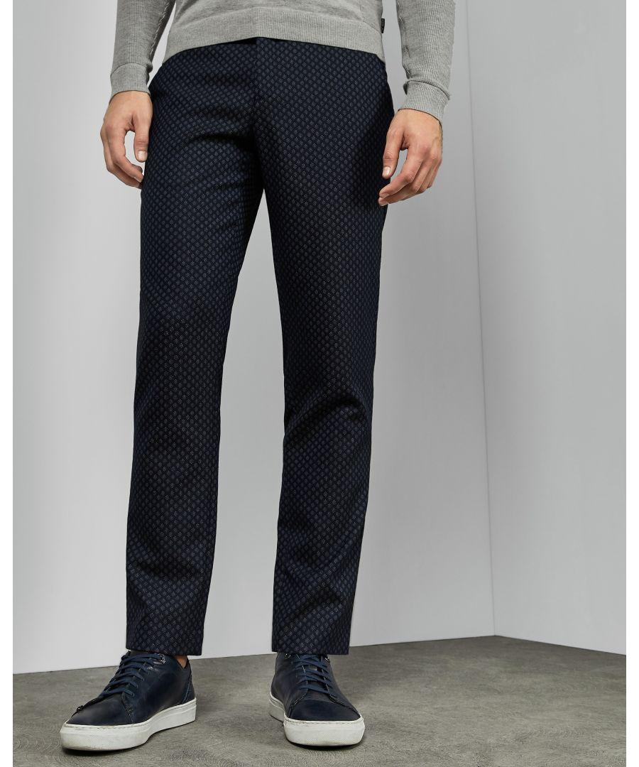 Image for Ted Baker Craitro Geo Design Trouser, Navy