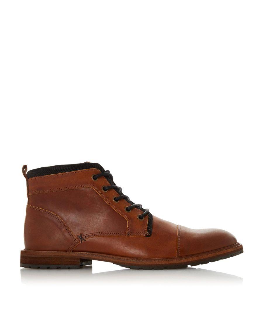Image for Dune Mens CRAWSHAW Leather Chukka Boots