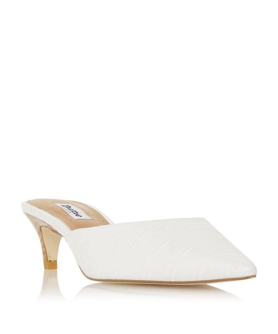 Image for Dune Ladies CRISTY Pointed Toe Kitten Heel Mule Shoe
