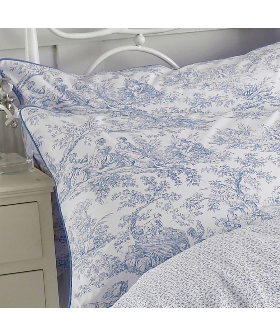 Image for Canturbury Tales Cord Piped Pillowcase Set