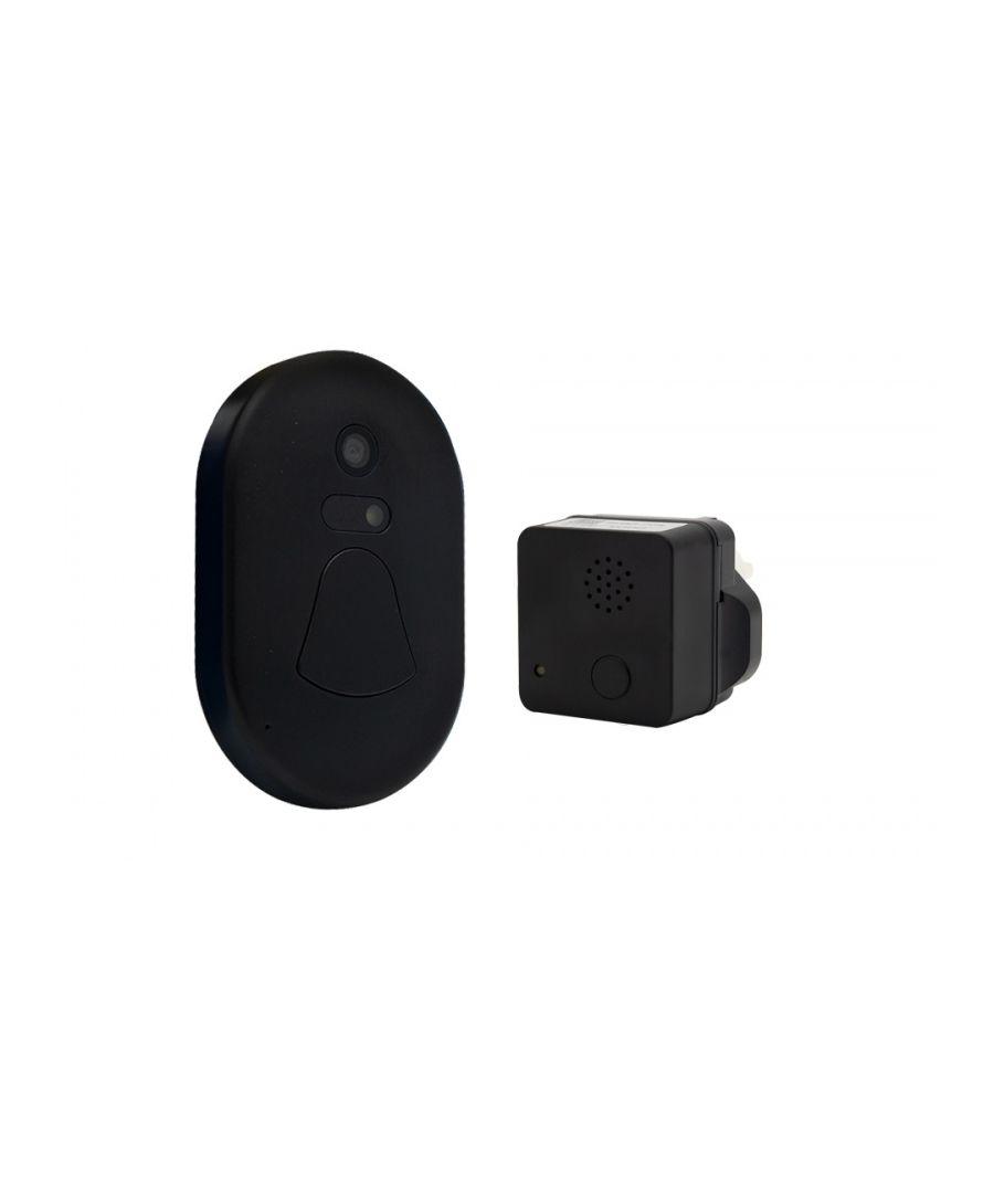 Image for Wireless Smart Camera Doorbell Black