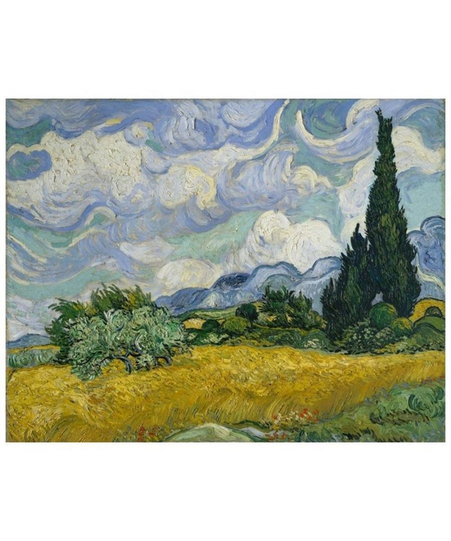 Image for Canvas Print - Wheat Field With Cypresses - Vincent Van Gogh Cm. 60x80