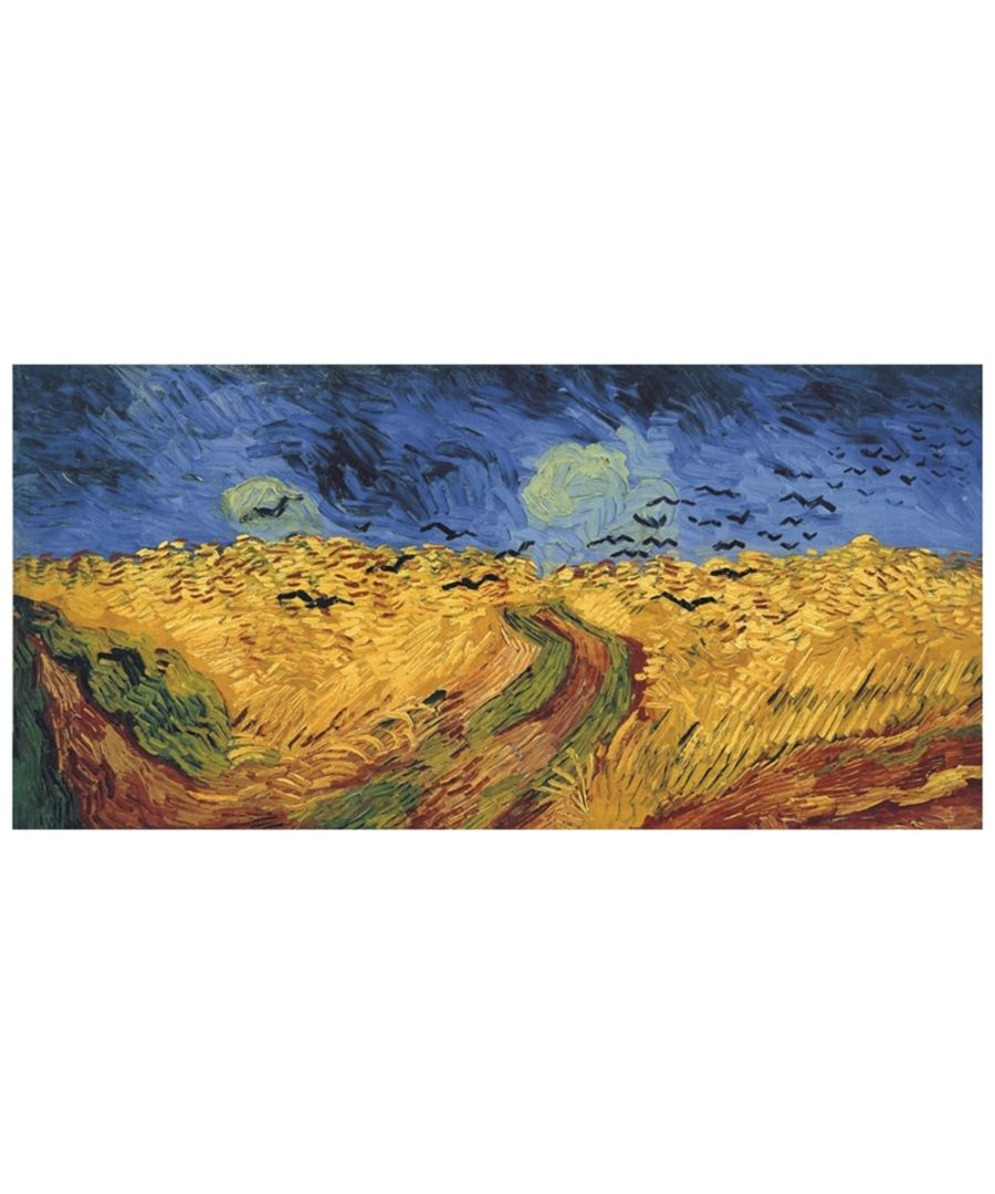 Image for Canvas Print - Wheatfield With Crows - Vincent Van Gogh Cm. 50x100