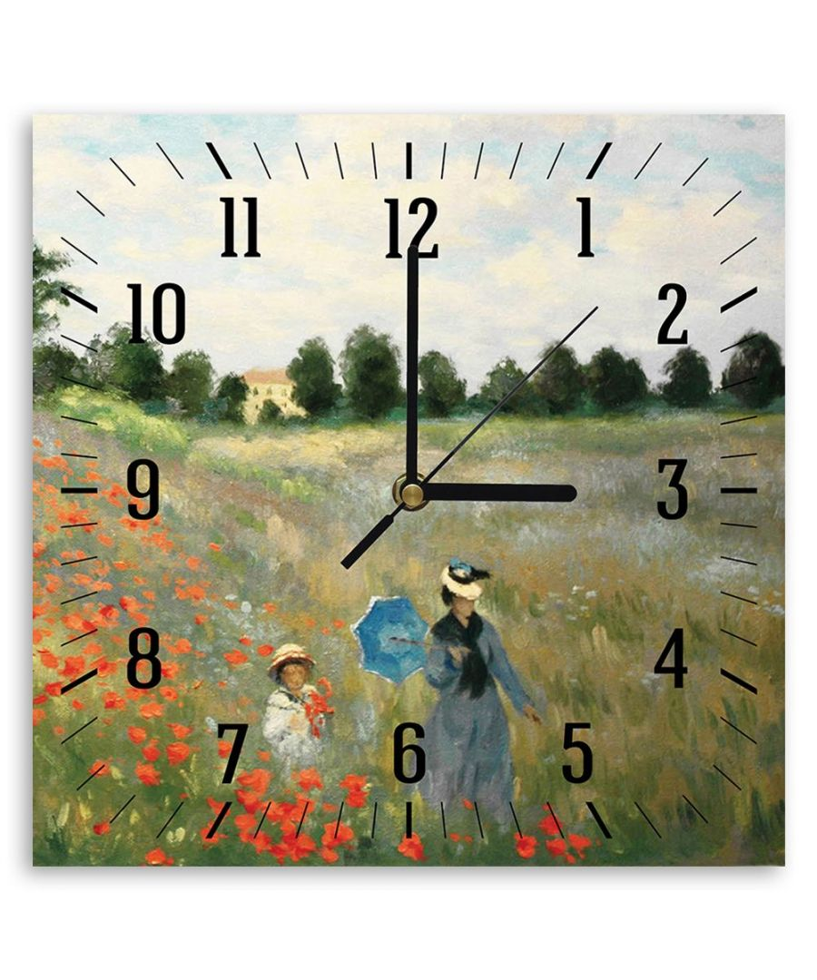 Image for Wall Clock - Poppies, Near Argenteuil (Detail) - Claude Monet Cm. 30x30