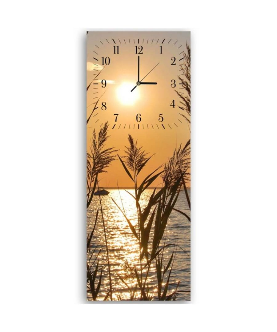 Image for Wall Clock - Bamboo Canes On The Lake Cm. 30x90