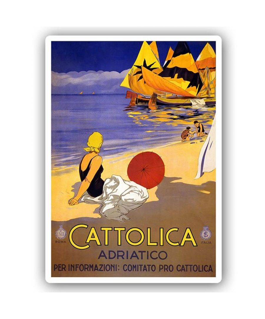 Image for Vintage Tourist Poster - Metal Print  - Cattolica