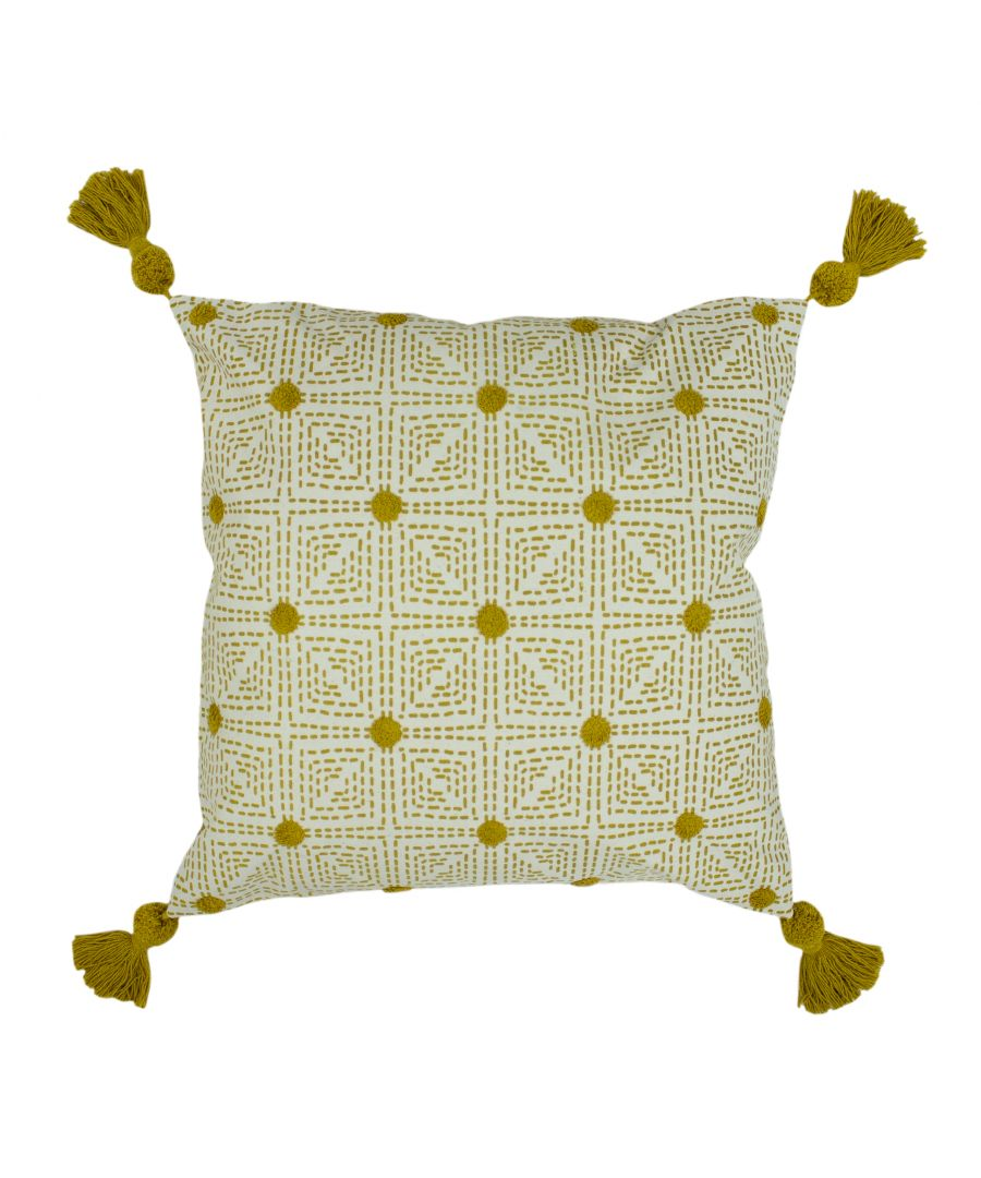 Image for Chia 50X50 Poly Cushion Ochre