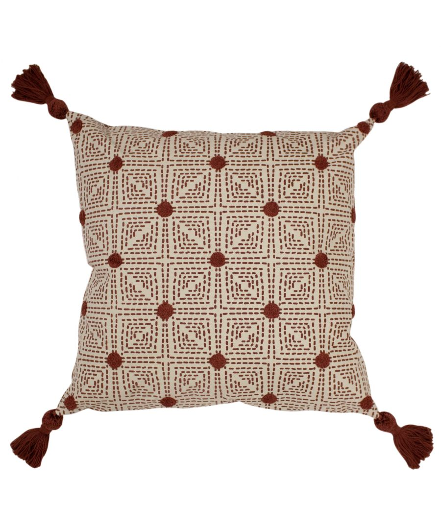 Image for Chia 50X50 Poly Cushion Red Clay