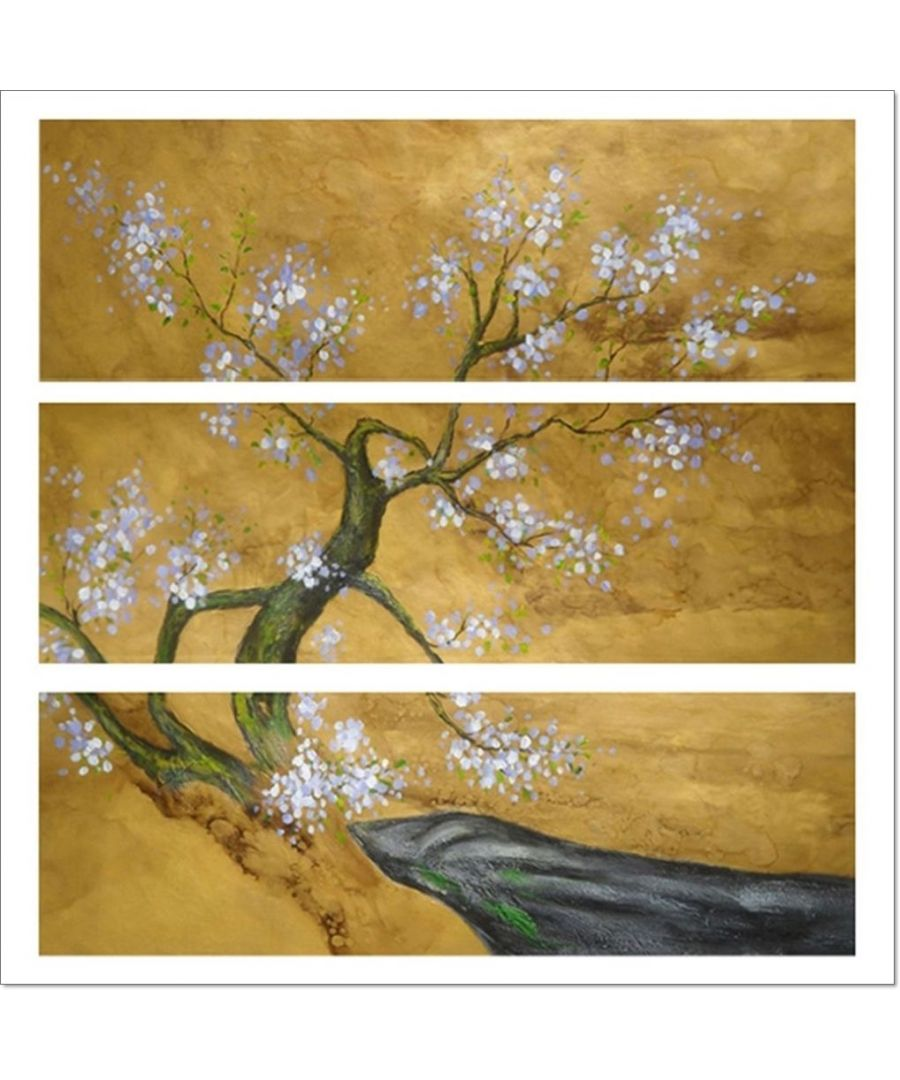 Image for Oil Painting - Cherry Tree In Bloom Cm. 90x100 (3 Panels)
