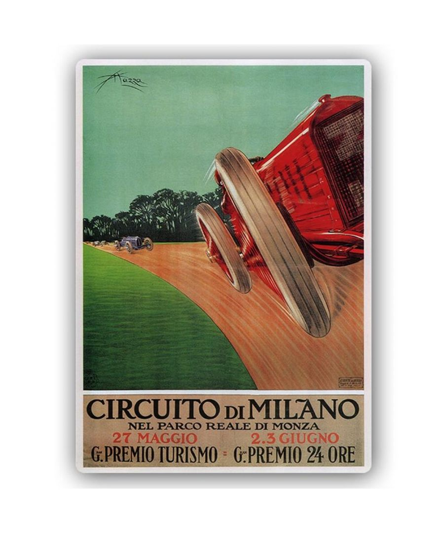 Image for Vintage Advertising Poster - Metal Print  - Circuito Di Milano