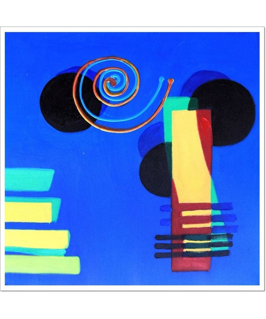 Image for Oil Painting - Colours And Shapes In Blue Cm. 50x50