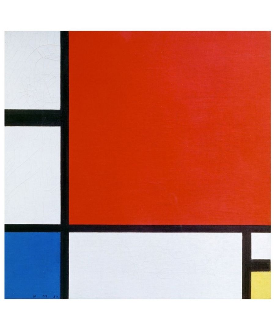 Image for Canvas Print - Composition Ii In Red, Blu And Yellow - Piet Mondrian Cm. 90x90