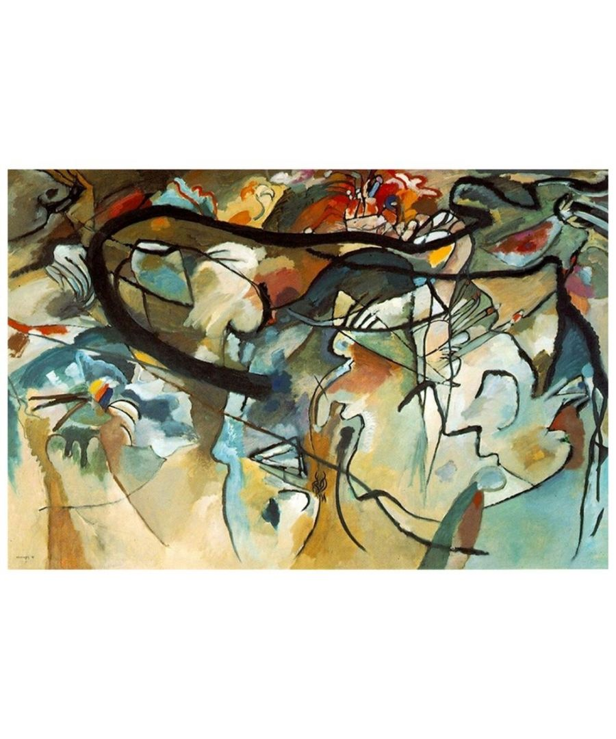Image for Canvas Print - Composition V - Wassily Kandinsky Cm. 60x90