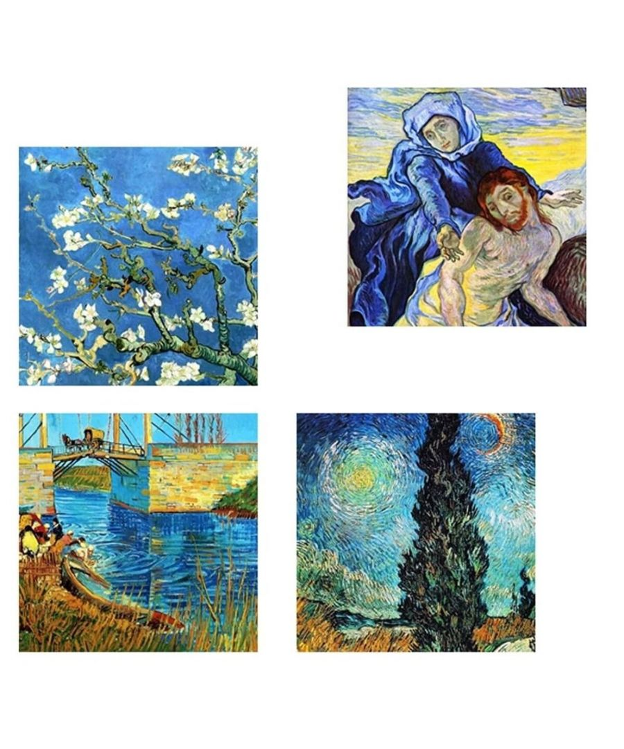 Image for Canvas Print - Blue Composition - Vincent Van Gogh Cm. 50x50 (4 Panels)