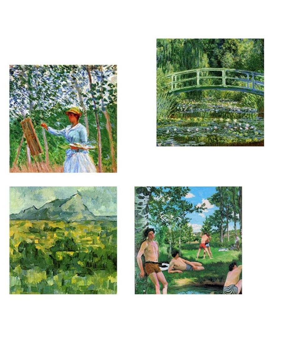 Image for Canvas Print - Green Composition Cm. 50x50 (4 Panels)