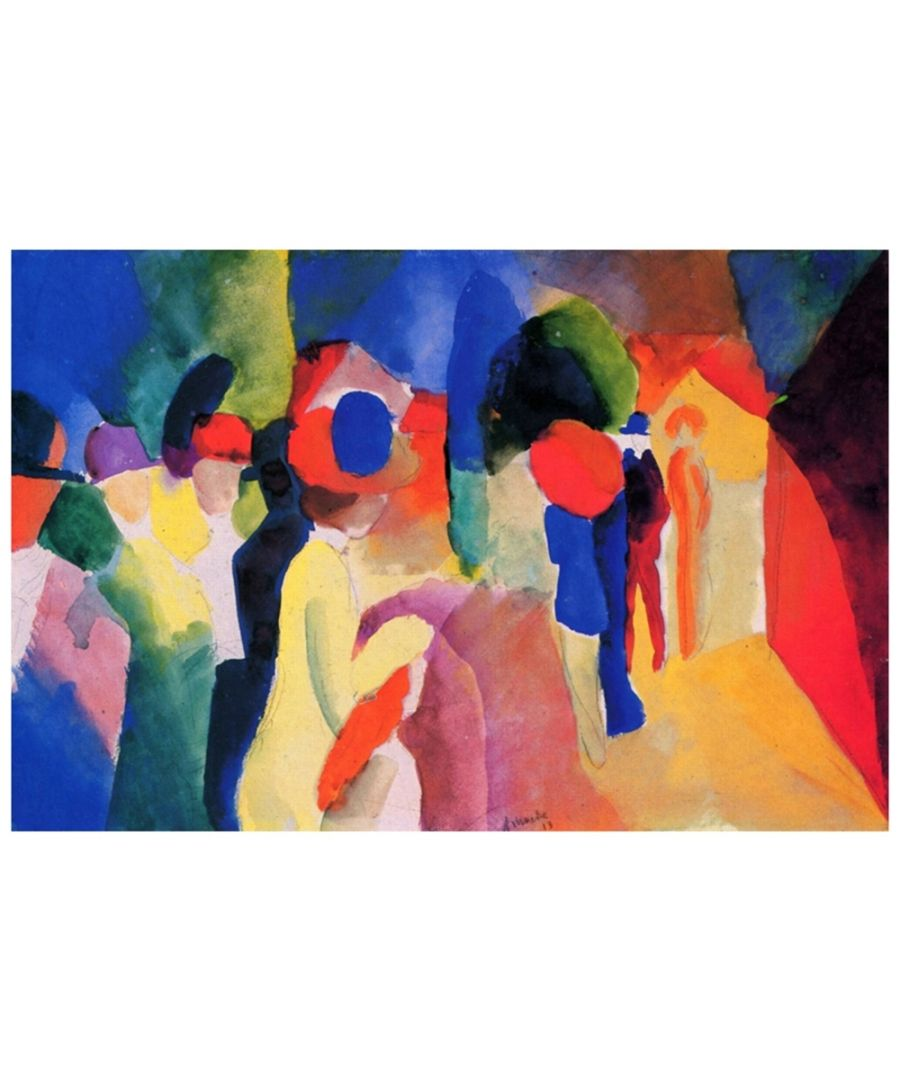 Image for Canvas Print - With A Yellow Jacket - August Macke Cm. 60x90