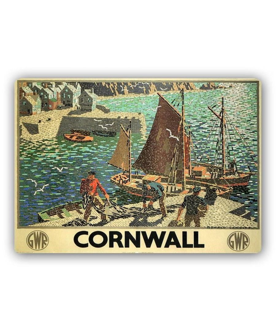 Image for Vintage Advertising Poster - Metal Print  - Cornwall