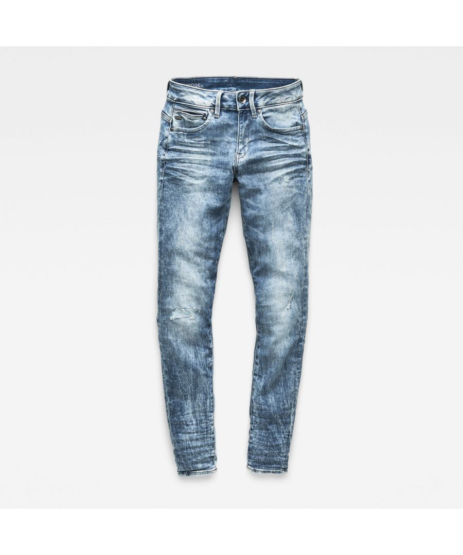 Image for G-Star RAW Midge Zip Mid Waist Skinny Color Jeans
