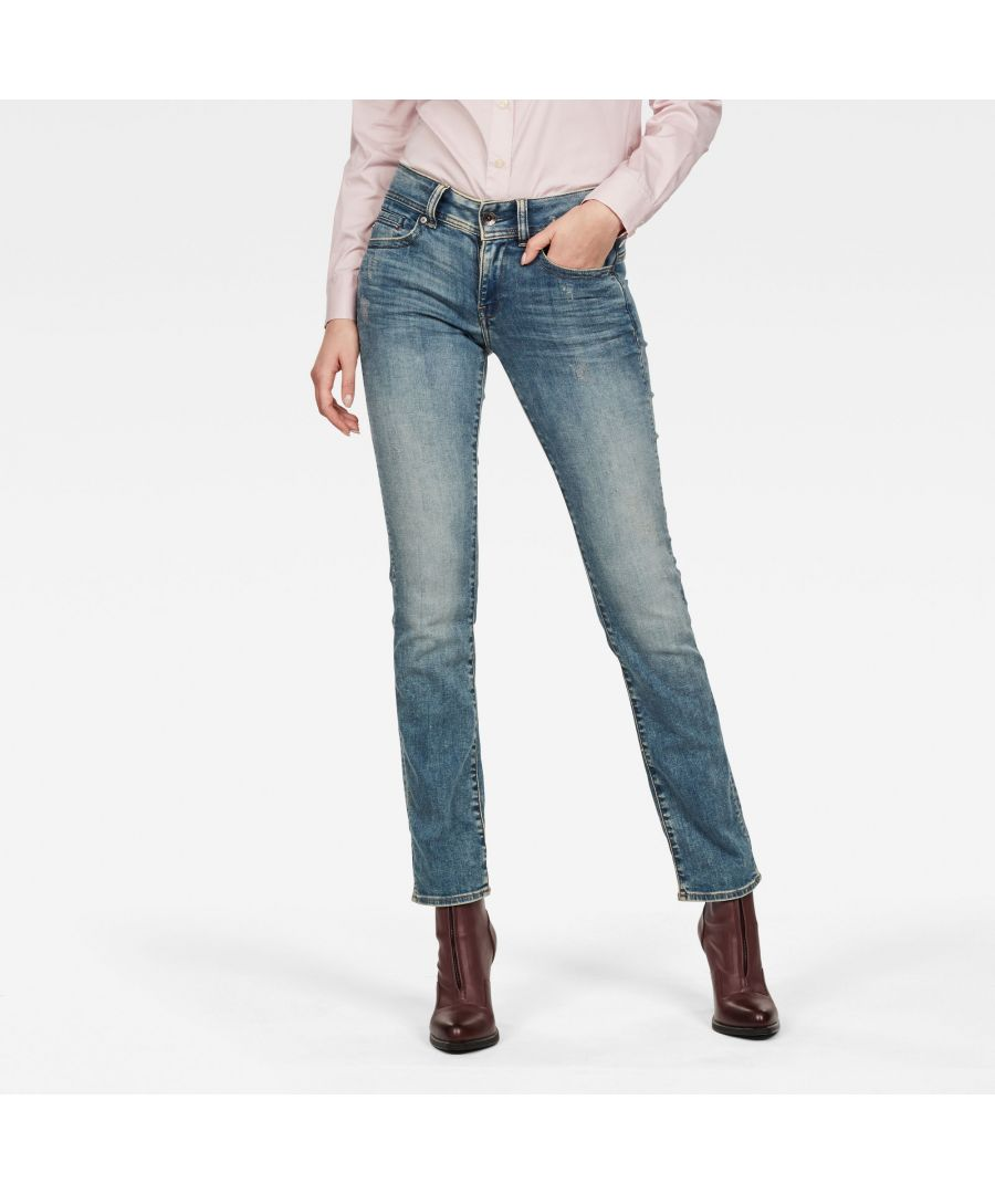 Image for G-Star RAW Midge Mid Straight Jeans