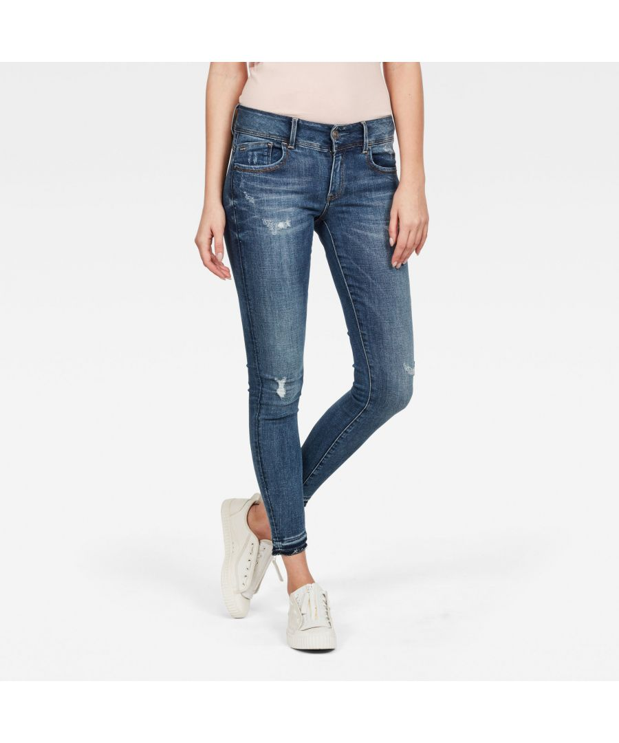 Image for G-Star RAW Lynn Mid Waist Skinny Ripped Jeans