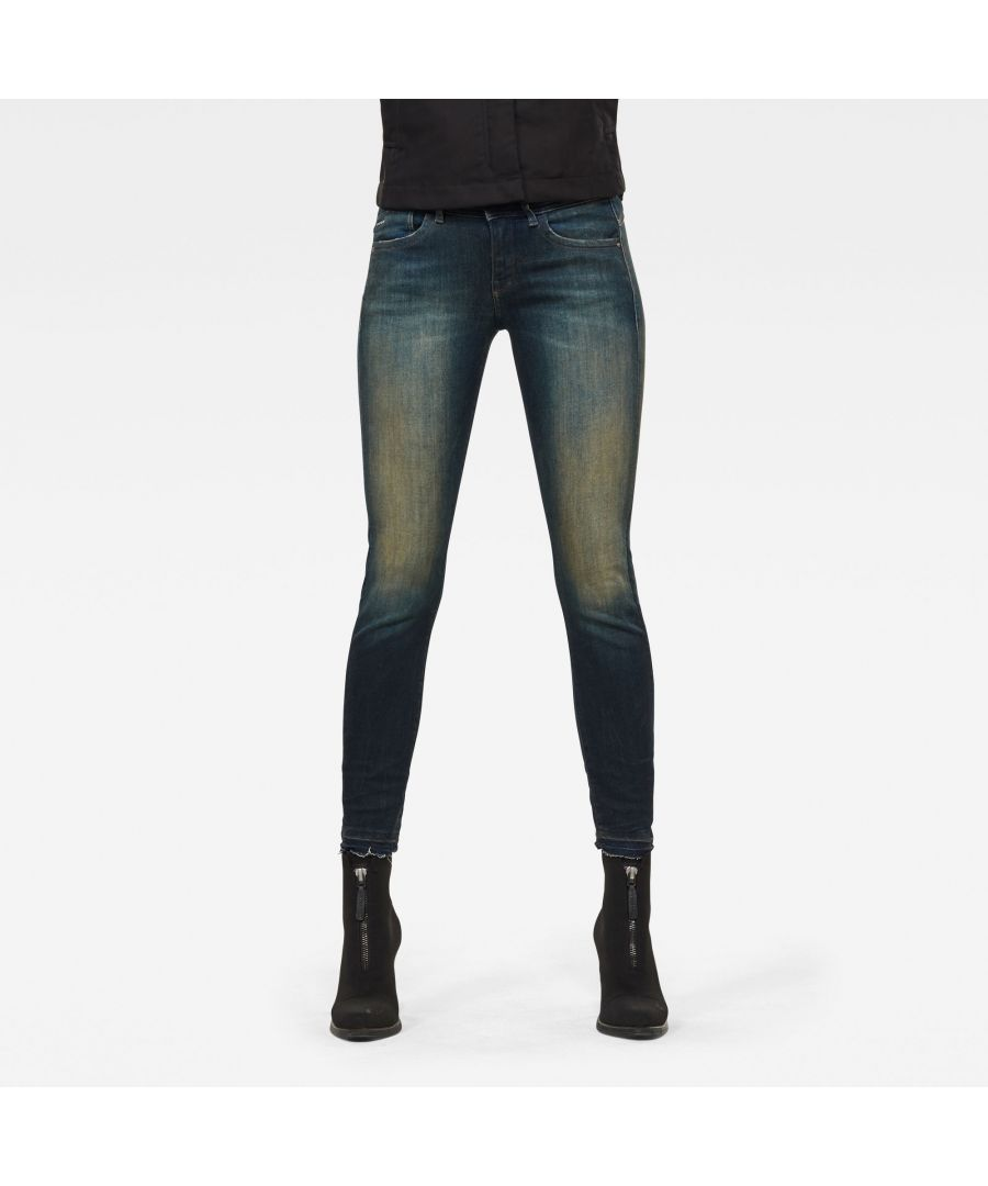 Image for G-Star RAW Lynn Mid Skinny Ripped Edge Ankle Jeans
