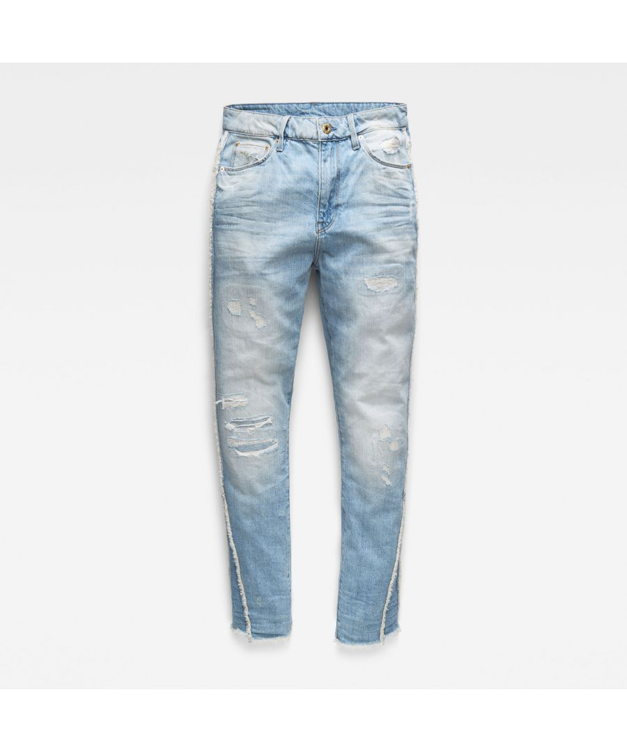 Image for G-Star RAW 3301 Fringe High Straight Jeans