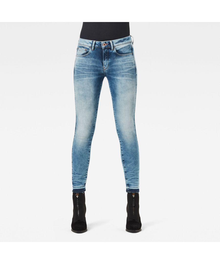 Image for G-Star RAW 3301 Mid Skinny Ripped Edge Ankle Jeans