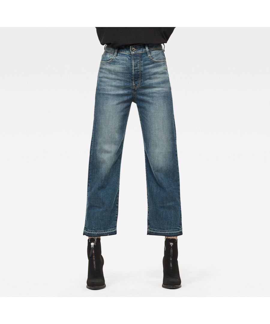 Image for G-Star RAW Tedie Ultra High Straight Ripped Edge Ankle C Jeans