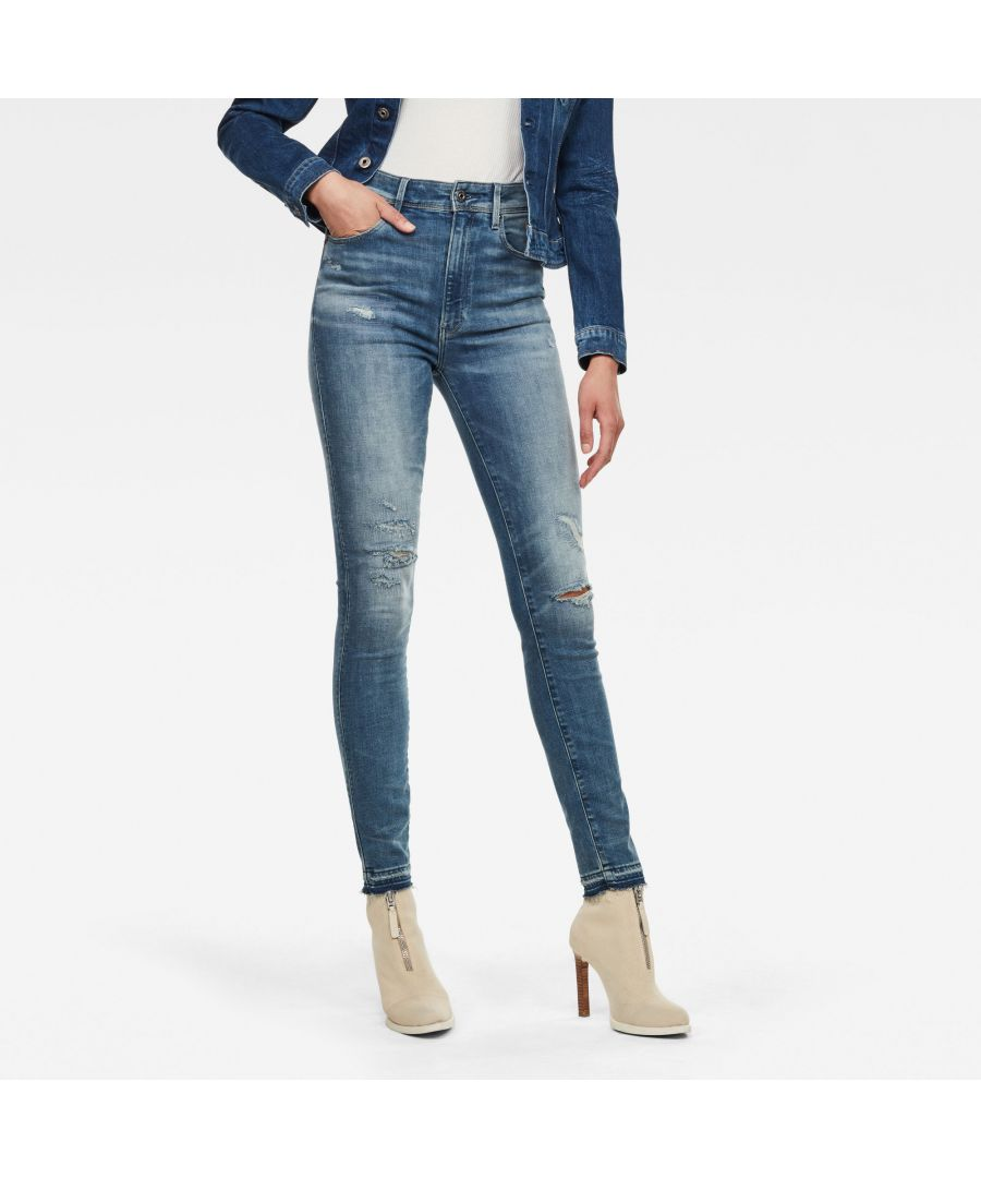 Image for G-Star RAW Kafey Ultra High Skinny Ripped Edge Ankle Jeans