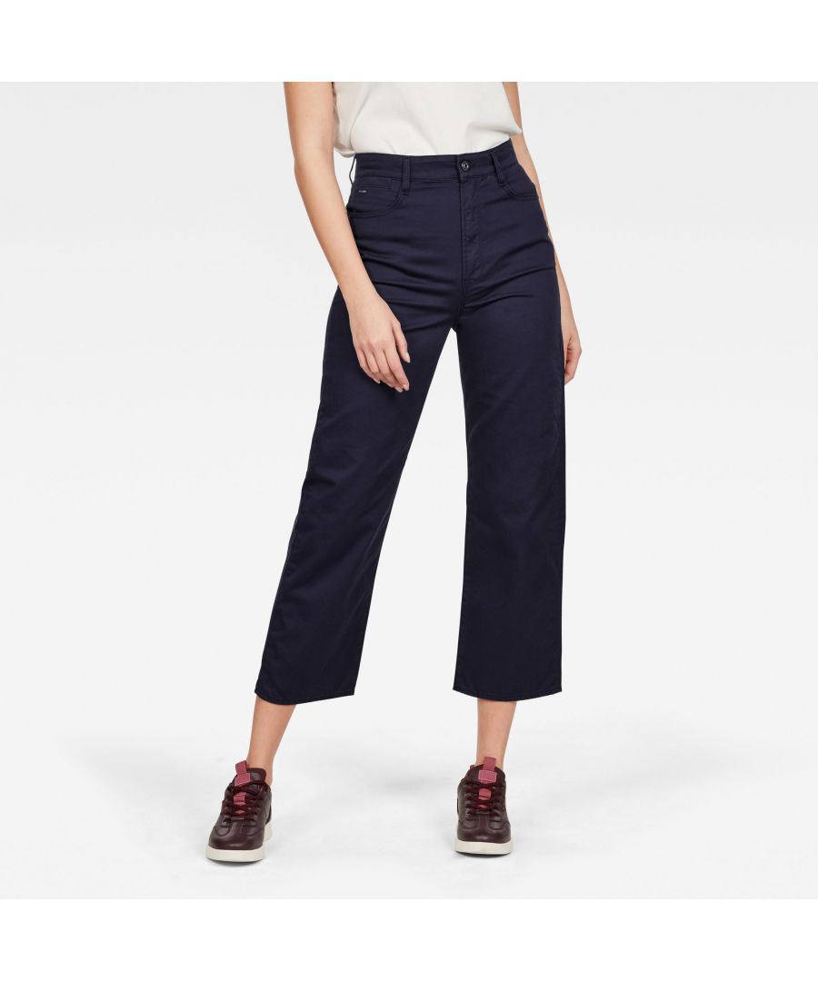 Image for G-Star RAW Tedie Ultra High Straight Ripped Edge Ankle Pants