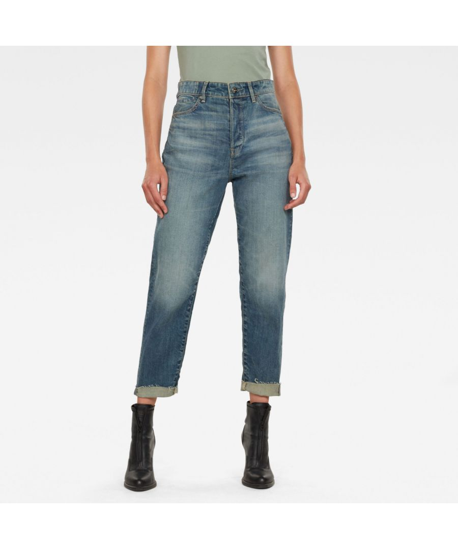 Image for G-Star RAW Janeh Ultra High Mom Ripped Edge Ankle Jeans C