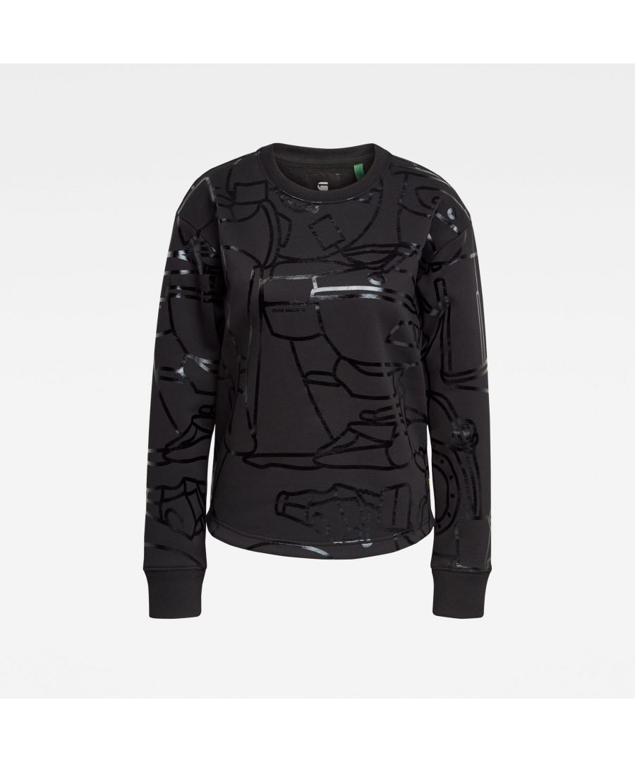 Image for G-Star RAW Line Art Allover Xzyph Sweater