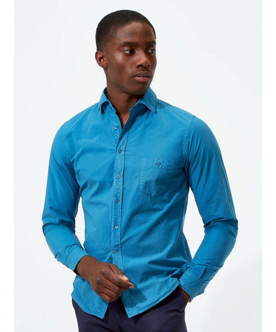 Image for Plain Poplin Shirt Blue