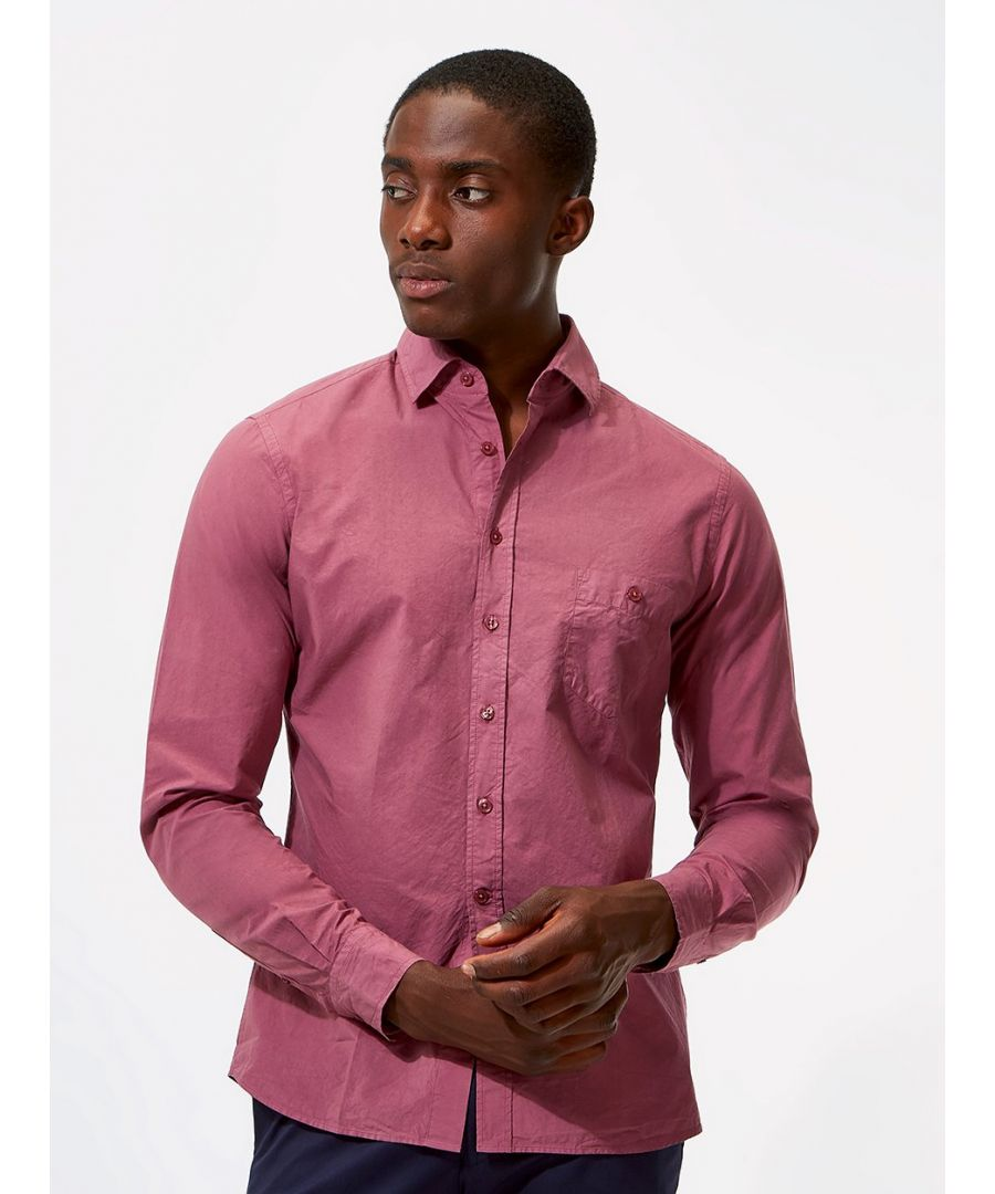 Image for Plain Poplin Shirt Purple