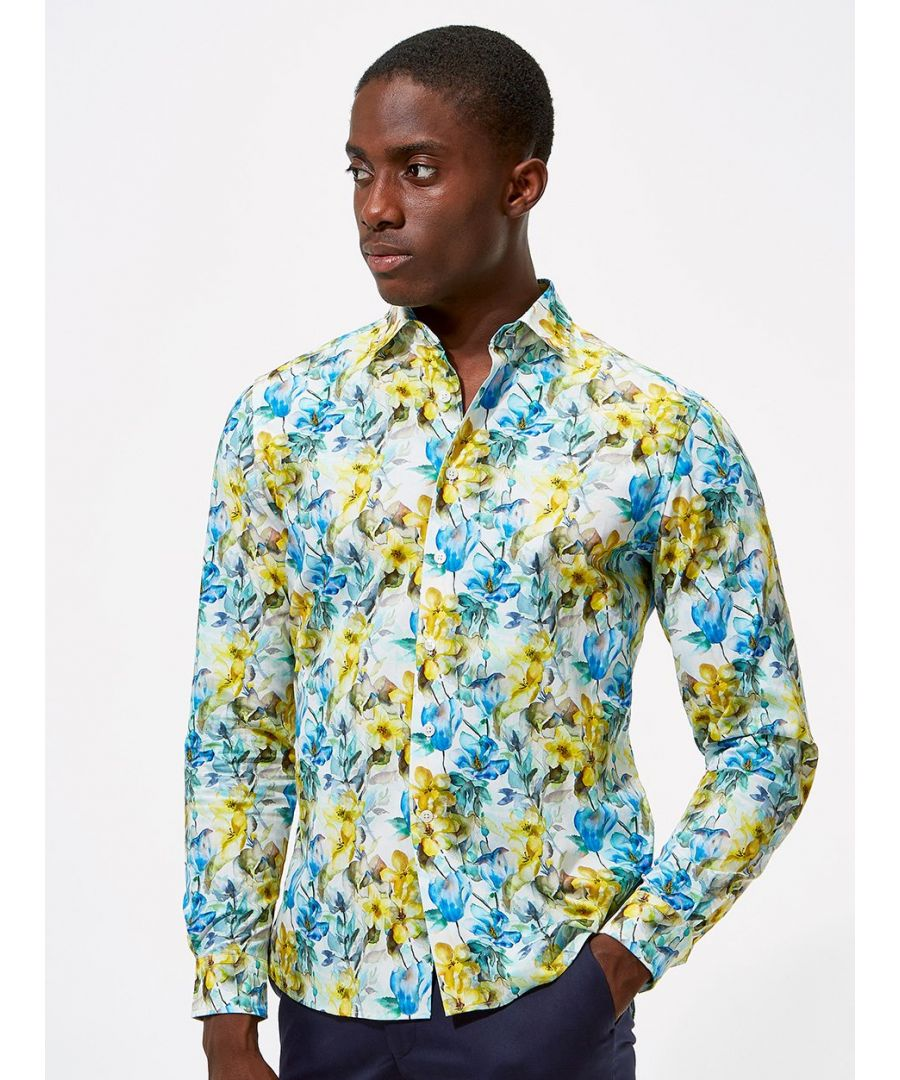 Image for Imogen Floral Print Shirt Blue