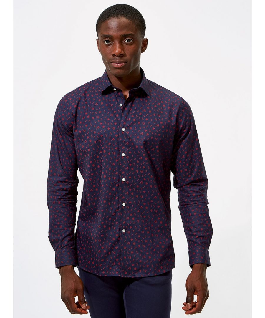 Image for Gentlemans Print Shirt Navy