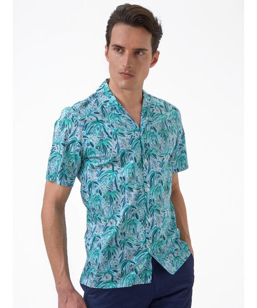 Image for Tropical Print Shirt Green