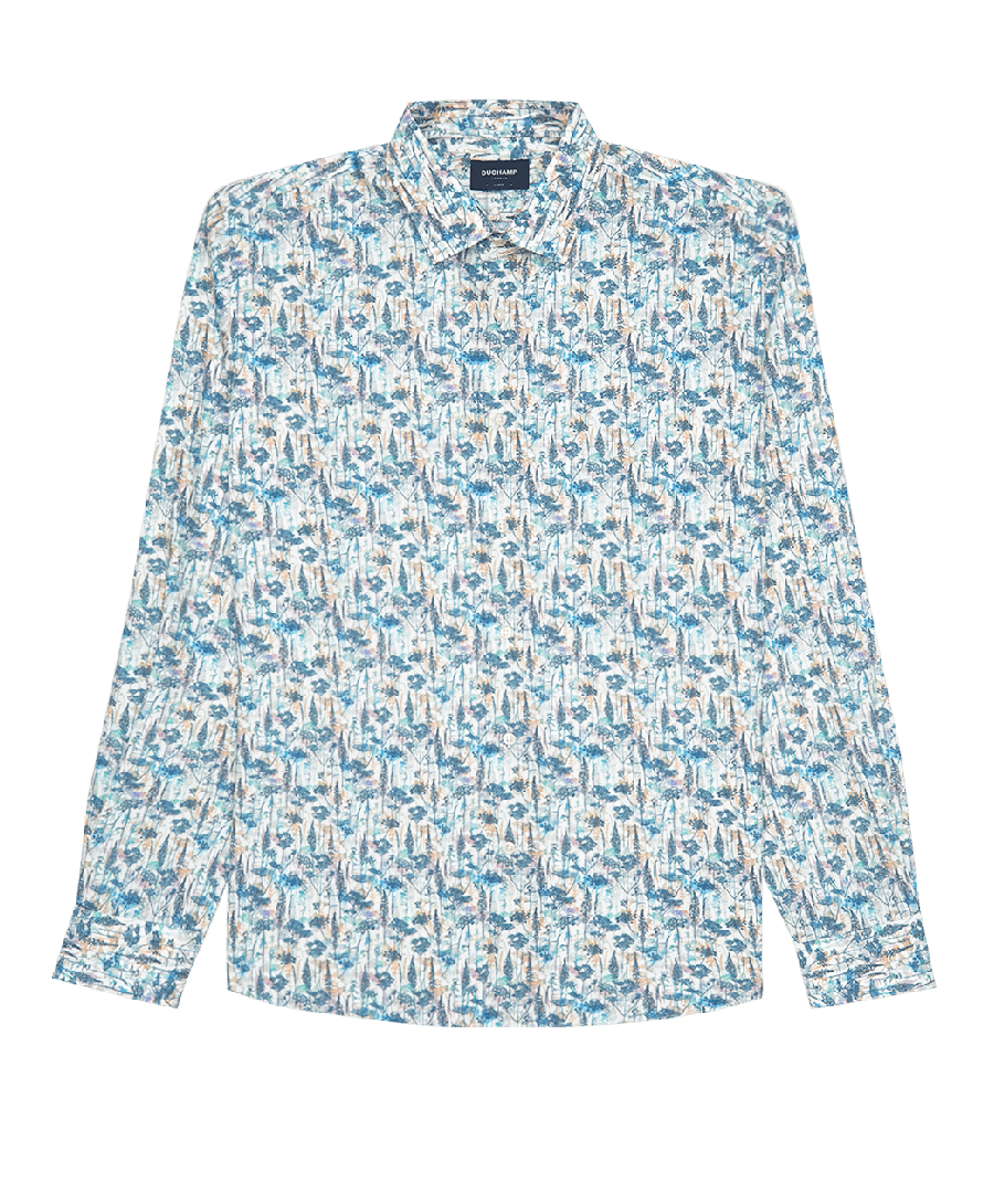 Image for Aster Floral Print Shirt White