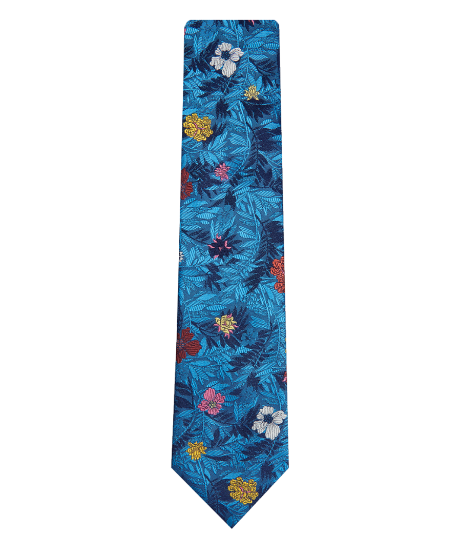 Image for Jungle Flower Tie Blue