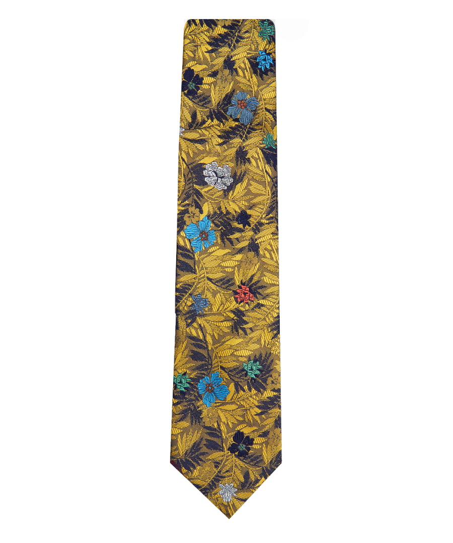 Image for Jungle Flower Tie Yellow
