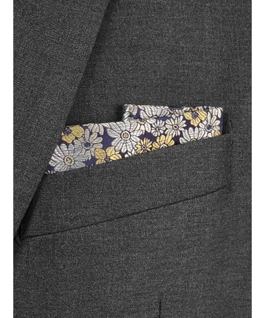 Image for Pastel Floral Pocket Square Yellow