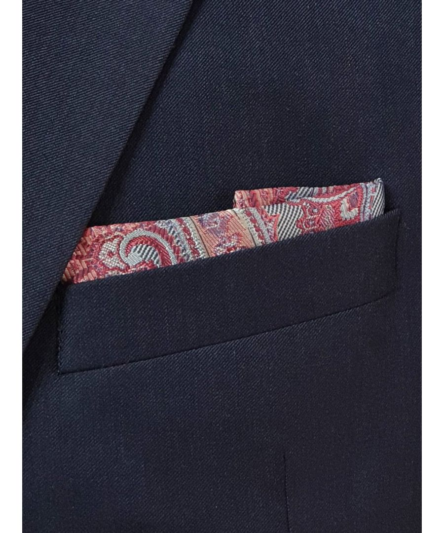 Image for Elegant Paisley Pocket Square Pink