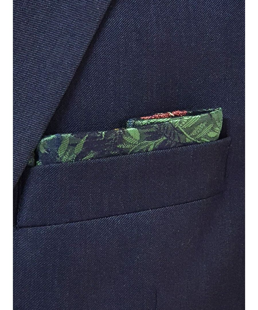 Image for Jungle Flower Pocket Square Green