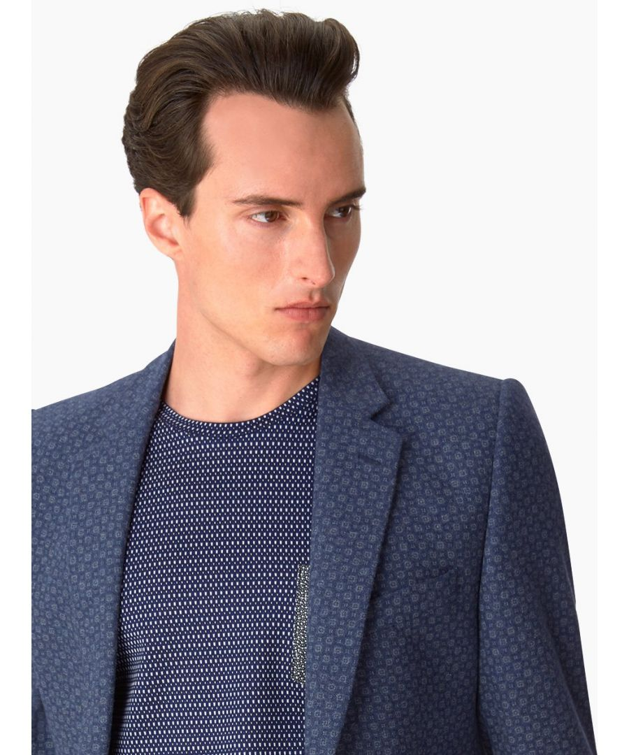 Image for Notch Printed Medalion Jacket Navy
