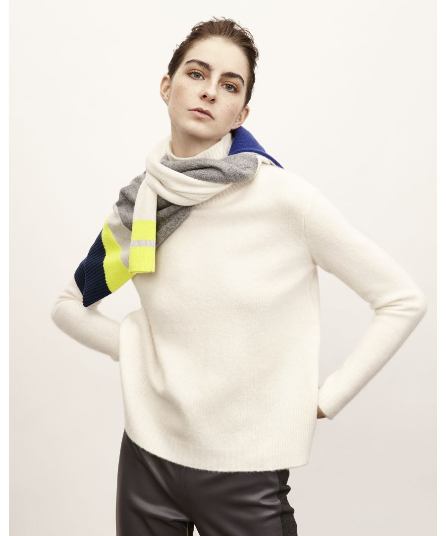 Image for Ivory Cashfelt Donegal Sweater