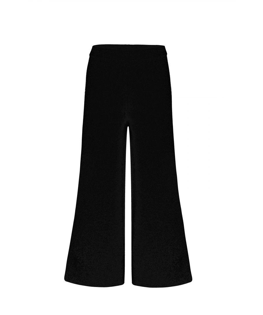 Image for Black Wide Legged Pants In Black