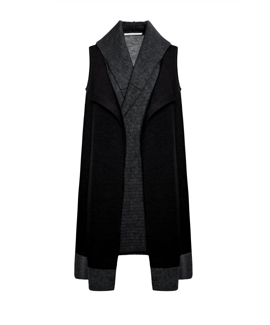 Image for Black Wool Waistcoat