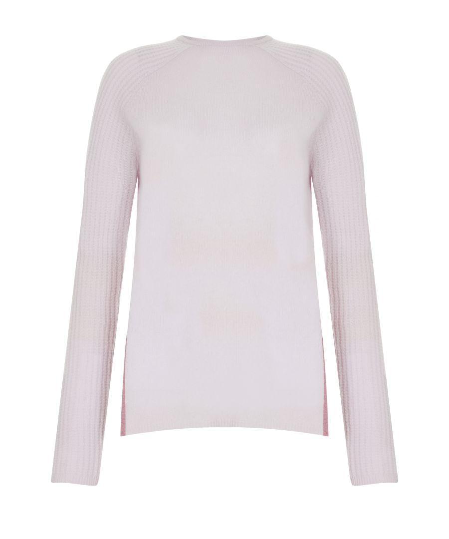 Image for Pink Cashmere Fock Neck Jumper